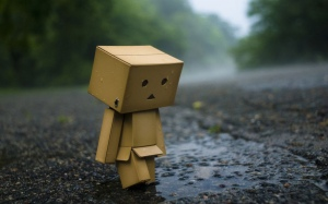 Sad box-person